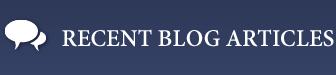 Recent Blog Articles